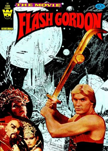 1980's Movie - FLASH GORDON - COMIC MOVIE COVER 2 canvas print - self adhesive poster - photo print